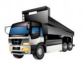 picture of dump_truck  - A Dump Truck Illustration - JPG