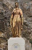 stock photo of nightingale  - The Statue of Virgin Mary - JPG