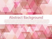 Beautiful And Classic Gradient Pink, Black Brown Polygon Shape Pattern. Sweet Pink And Black Brown T poster