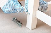 The Buyer Collects Ready-to-assemble Folding Table. Ready-to-assemble Furniture poster