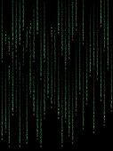 Green Binary Code On Black Background