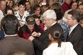 Newt meets Korean war veteran.