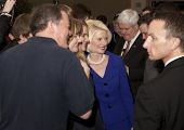 Calista Gingrich poses with supporters.