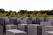 Concrete Stelae At The Holocaust Memorial In Berlin