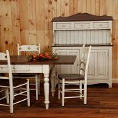 Old Pine Wood Kitchen Set