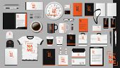 Corporate Branding Identity Template Design. Modern Realistic Colorful Business Stationery Mockup. S poster