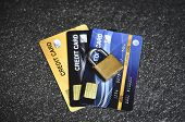Credit Card Security Internet Data / Encryption Transactions On Credit Card Lock Secured poster