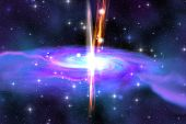 stock photo of stellar  - A Stellar Black Hole is caused by the collapse of a massive star and is also called a Supernova explosion or a Gamma Ray Burst - JPG