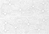 High-tech Technology Background Texture. Circuit Board Minimal Pattern. Science Vector Illustration. poster