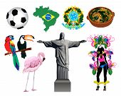 picture of brazilian carnival  - Vector Illustration of several Brazilian icons and symbols - JPG