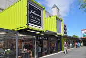 Christchurch Reconstruction - Johnsons's Grocery Store Reopens.
