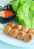 Vietnamese Food With Dip And Herb