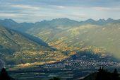 Alps And Valley, Vaud, Switzerland