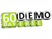 3D Get 60 Day Demo Free Block Letters