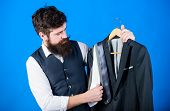 Difficulty Choosing Necktie. Shop Assistant Or Personal Stylist Service. Matching Necktie Outfit. Ma poster
