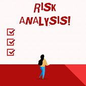 Word Writing Text Risk Analysis. Business Concept For Review Of The Risks Associated With A Particul poster