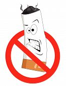 Cartoon No Smoking Sign Vector