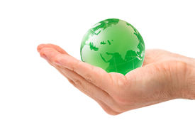 picture of environmentally friendly  - conceptual shot of globe on environmental awareness - JPG
