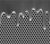 Seamless metallic liquid on grille texture - raster version
