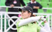 Beatriz Recari (SPN) at The Evian Masters golf tournament 2011