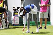 Michelle Wie  (USA) at The Evian Masters golf tournament 2011