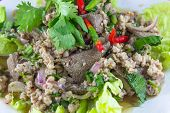 Thai Cuisine Larb Moo Spicy Minced Pork Salad