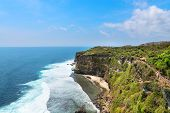 stock photo of dua  - High cliffs above the blue sea Nusa Dua Bali Indonesia - JPG