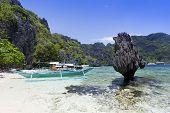Hermoso paisaje de la playa de El Nido, Filipinas