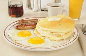 Sausage And Eggs With Pancakes