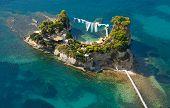Постер, плакат: Вид сверху на остров Закинф Греция камео