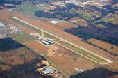 stock photo of cessna  - An Airport view from 3500 feet above - JPG