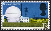 Postage stamp USA 1966 Windscale atomic reactor
