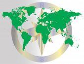 Green World Navigating Map