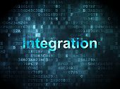 business concept: integration on digital background