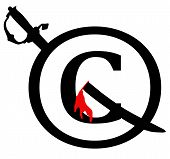 Black And Red Copyright Infringement Notice Icon