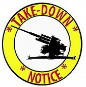 3D Take Down Notice With Anti Aircraft Gun