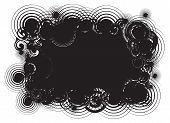 foto of woodstock  - Black abstract swirl background frame isolated on white - JPG