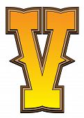 Western Alphabet Letter - V