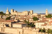 stock photo of fortified wall  - Avignon in Provence  - JPG