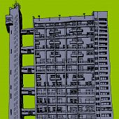 image of urbanisation  - An illustration of a  tower block scenery - JPG