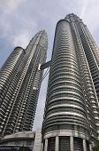 foto of petronas twin towers  - A fish eye shot describes the Twin Towers - JPG