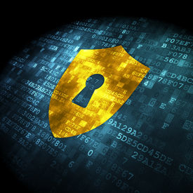stock photo of keyholes  - Security concept - JPG