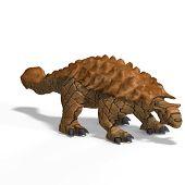 picture of ankylosaurus  - strange dinosaur Ankylosaurus With Clipping Path over white - JPG