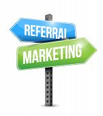 Referral Marketing Road Sign Illustration