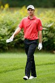 NORTON, MA-SEP 1: Justin Rose walks off the fifth tee during the third round at the Deutsche Bank Championship at TPC Boston on September 1, 2013 in Norton, Massachusetts.