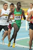 BARCELONA - JULY, 14: Abdelgadir Elnazeer of Sudan during 5000 meters of the 20th World Junior Athletics Championships at the Olympic Stadium on July 14, 2012 in Barcelona, Spain
