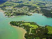 Aerial View Of Mill Bay And The Town Of Mangonui, Northland, New Zealand