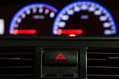 picture of mph  - Speedometer is a gauge in a car or other vehicle - JPG