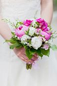 Bride's bouquet with Bride's bouquet in the hands