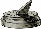 stock photo of sundial  - A cartoon of a sundial - JPG